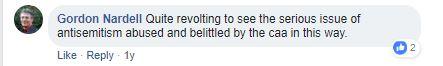 Gordon Nardell Firmin comment