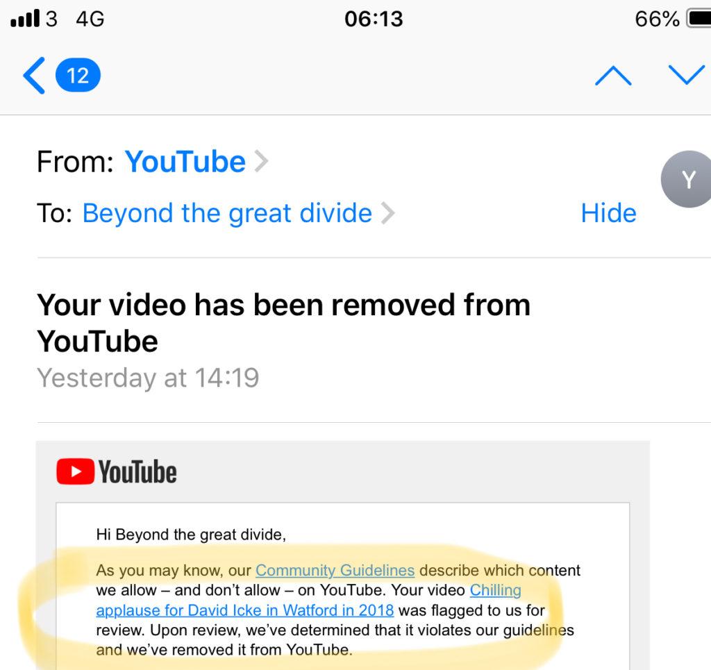 Icke on YouTube