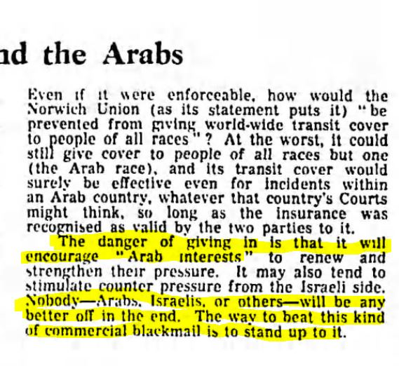 Arab boycott