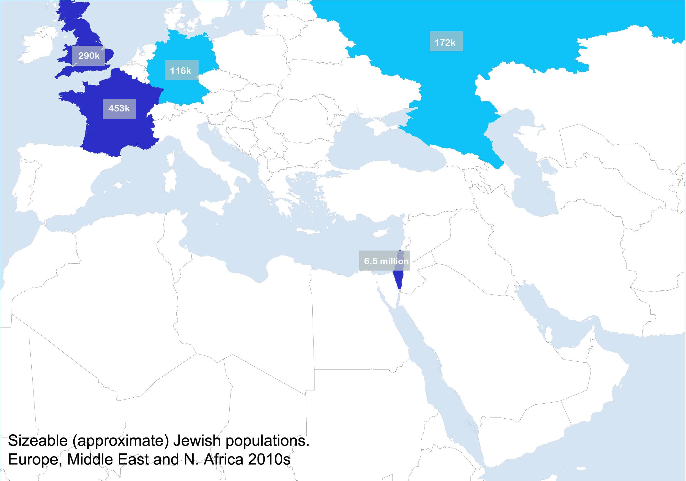 maps jewish populations