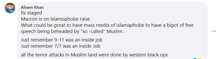 British Muslim Ahsen Khan Paris false flag