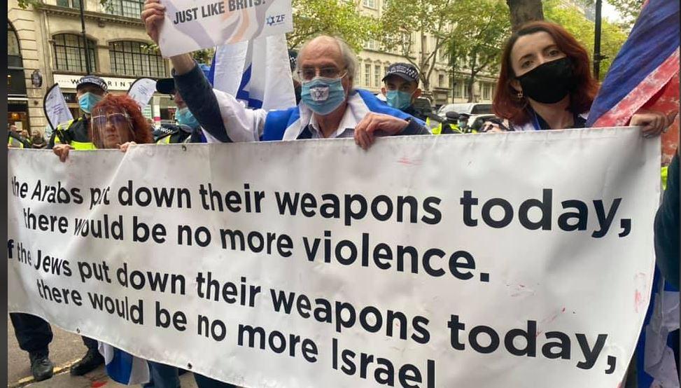 Palestine Action - Jewish counter protesteli protest