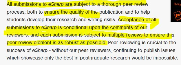 glasgow peer review
