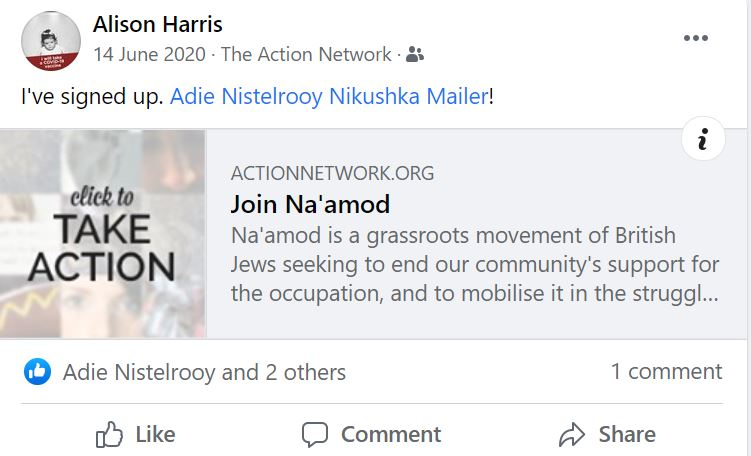 Alison Harris, JVL, Na'amod