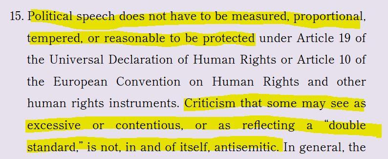 Jerusalem Declaration Nazi analogy