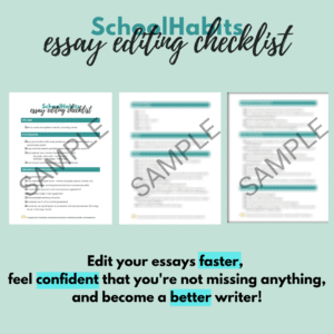how to edit your own essay