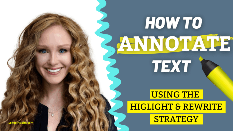 how to annotate text highlight
