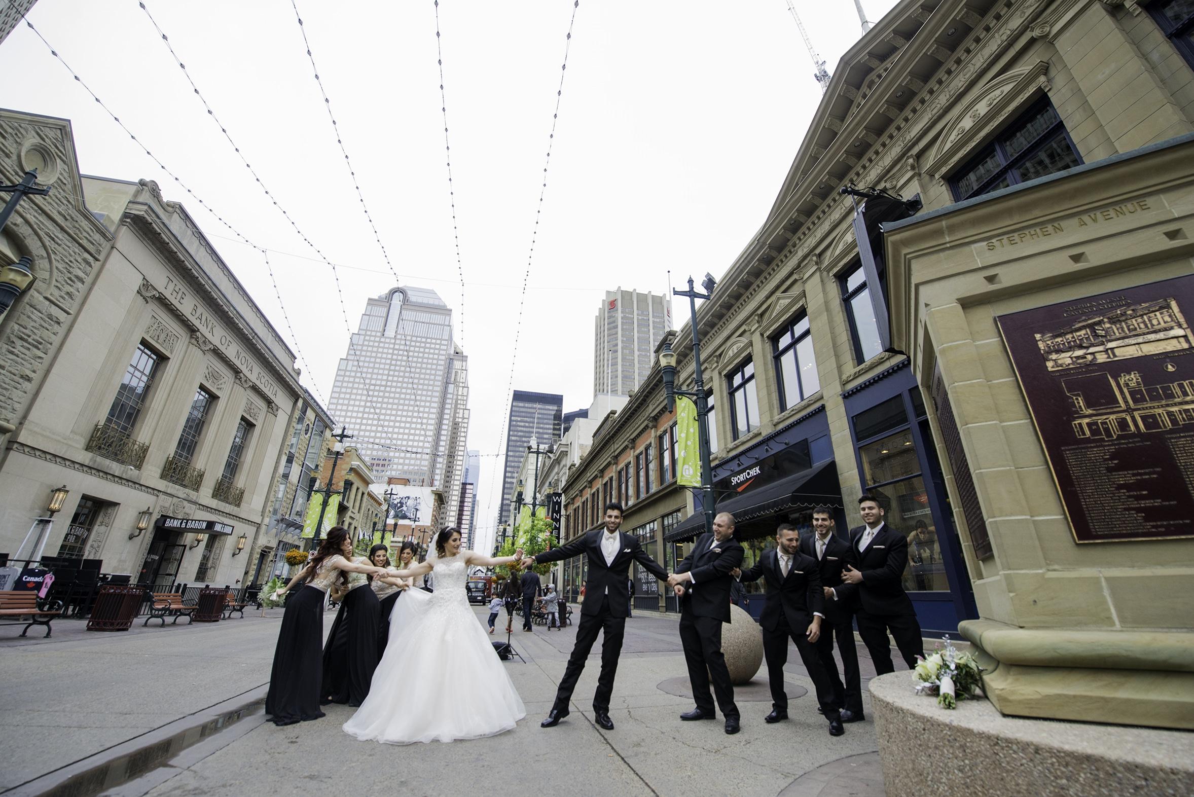 bridal party photos stephen avenue