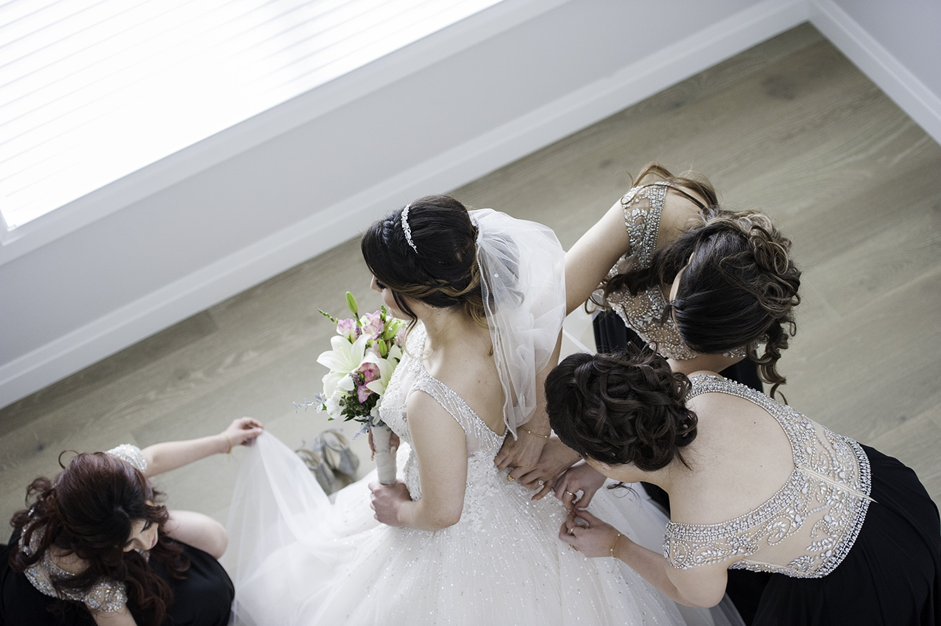 bridesmaids portraits calgary