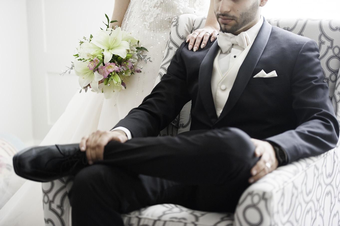 bride and groom portrait calgary