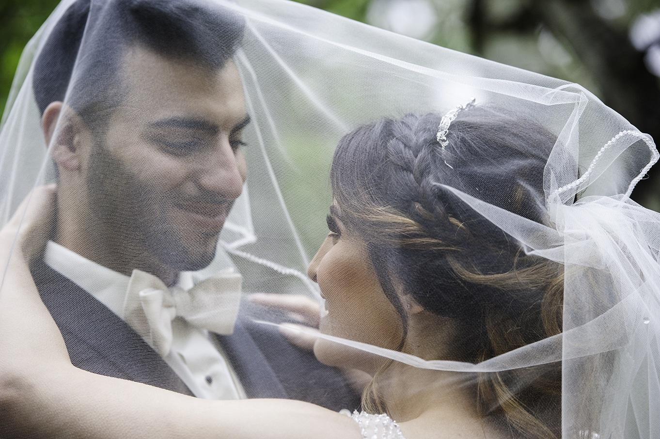 under the veil wedding photos