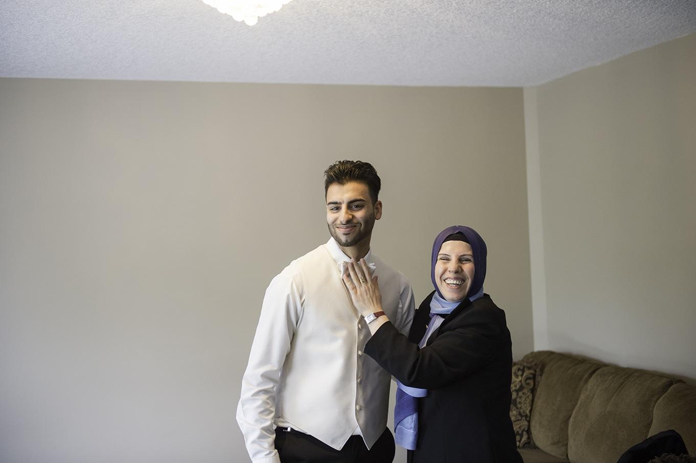 turkish groom getting ready