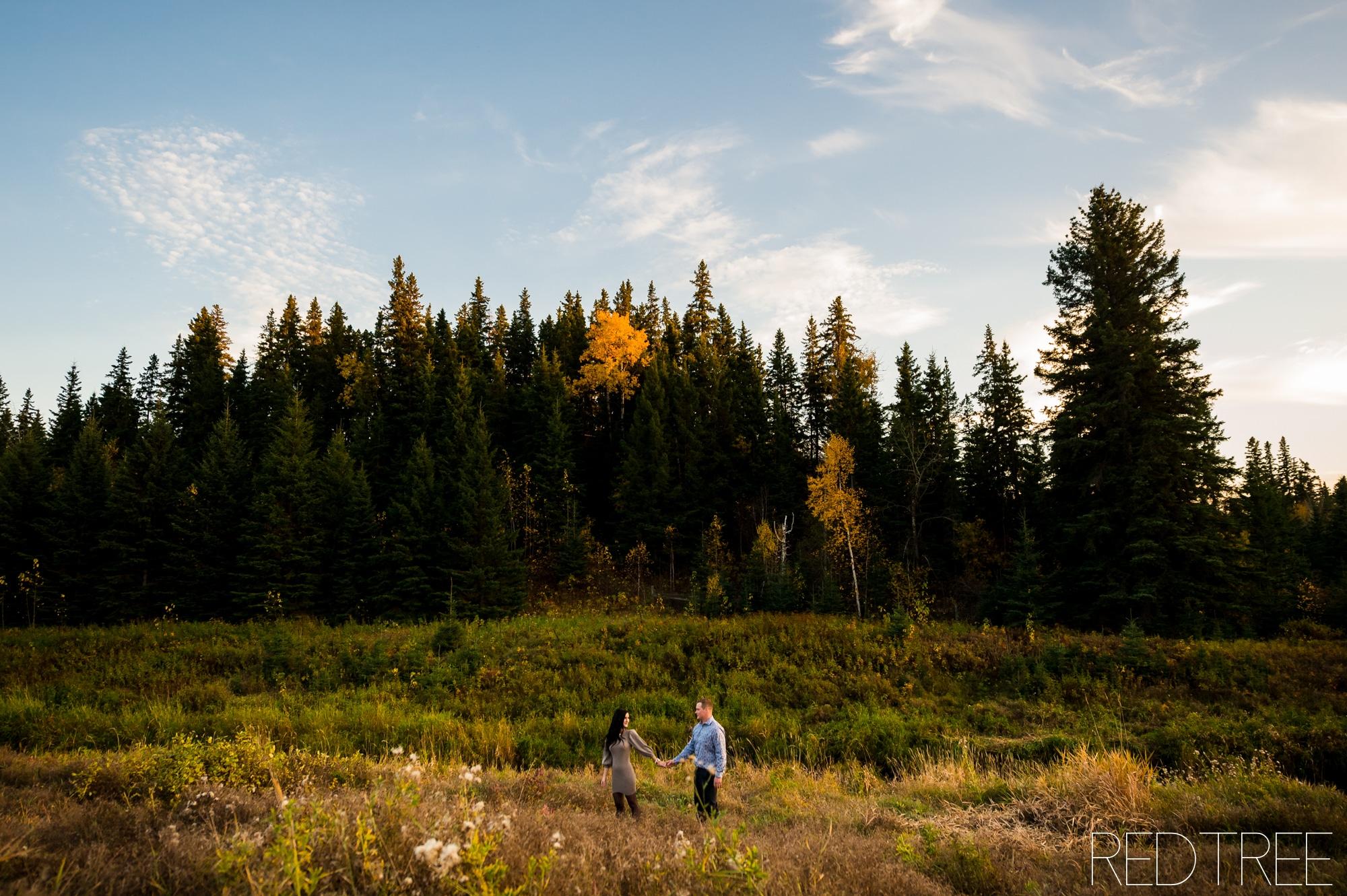 Edmonton Fall Engagement Photos: MacTaggart Sanctuary Trail Photography