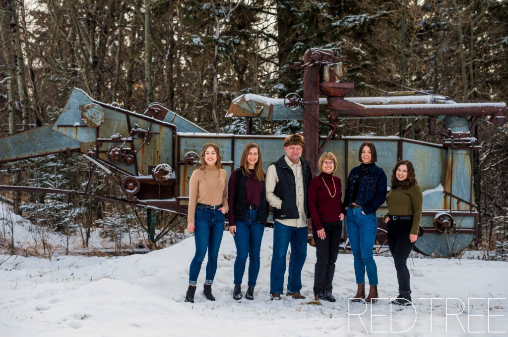 winter farm family photography, Camrose photographer
