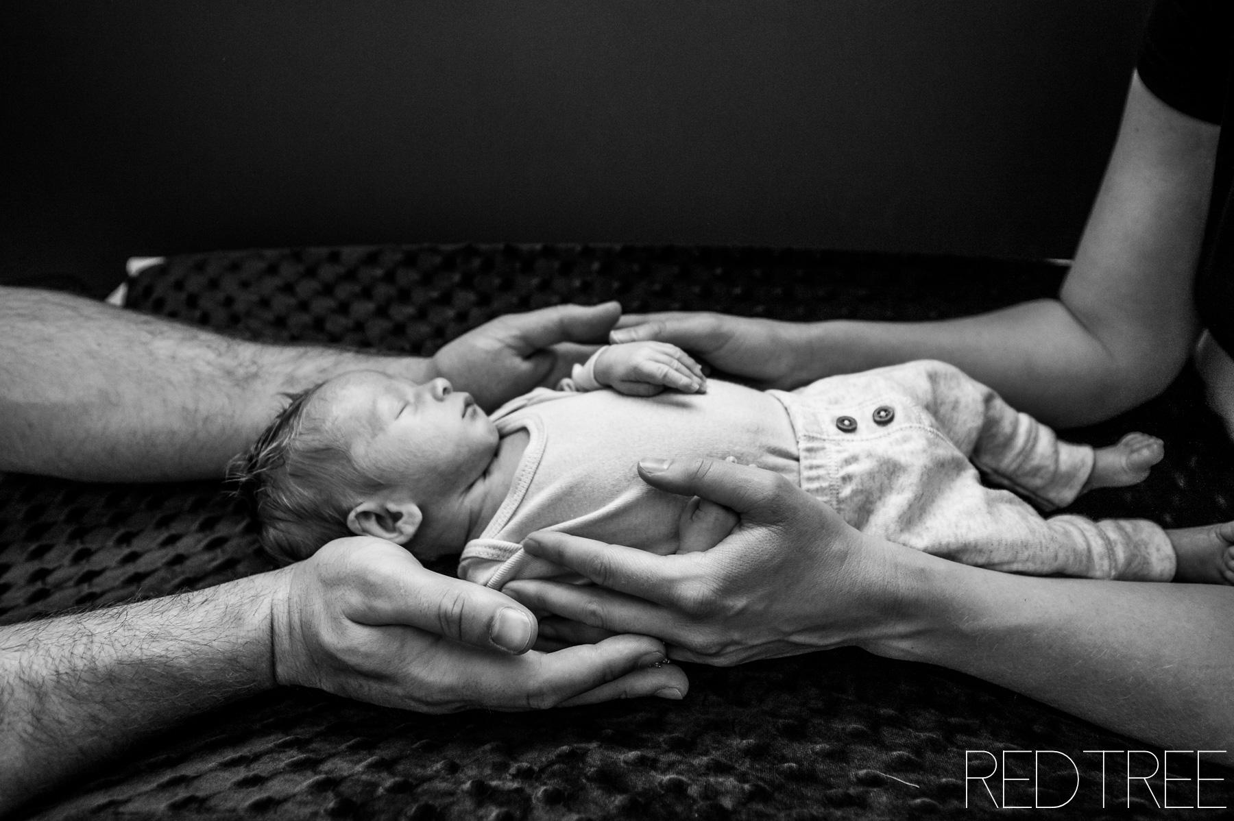 Newborn at Home Lifestyle Photography: Edmonton Newborn Photographers