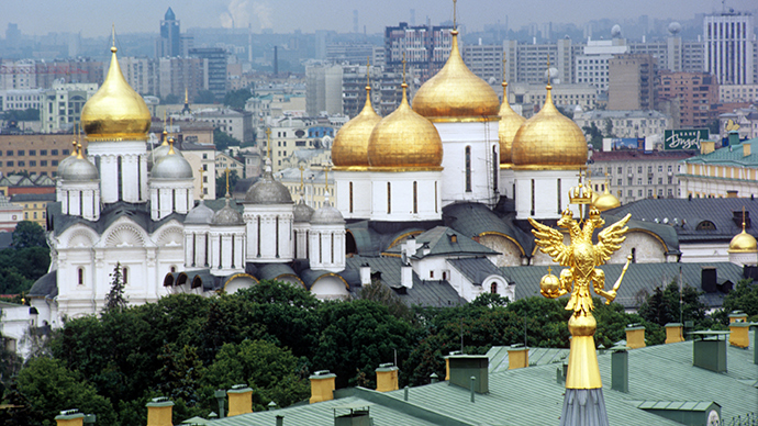 A view of the Cathedrals of the Archangel and the Dormition in the Moscow's Kremlin (RIA Novosti / Yury Abramochkin)