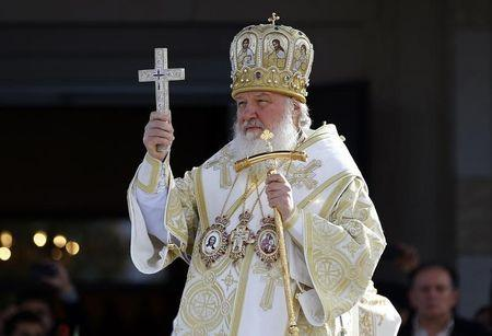 Patriarch Kirill of Moscow and All Russia holds a liturgy to mark 1,700 years since the Edict of Milan, when Roman emperor Constantine issued instructions to end the persecution of Christians, in the southern Serbian city of Nis October 6, 2013. REUTERS/Marko Djurica