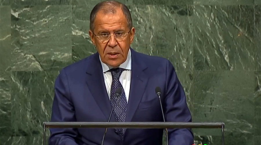 Russian Foreign Minister Sergey Lavrov © UN Web TV