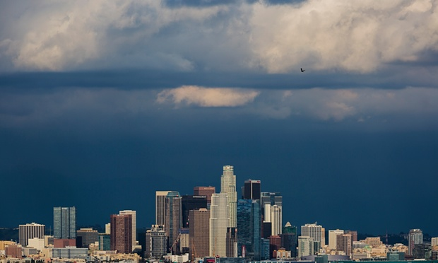 Those clouds are only there because the US government allowed them to be. Photograph: Ted Soqui/Ted Soqui Photography/Corbis