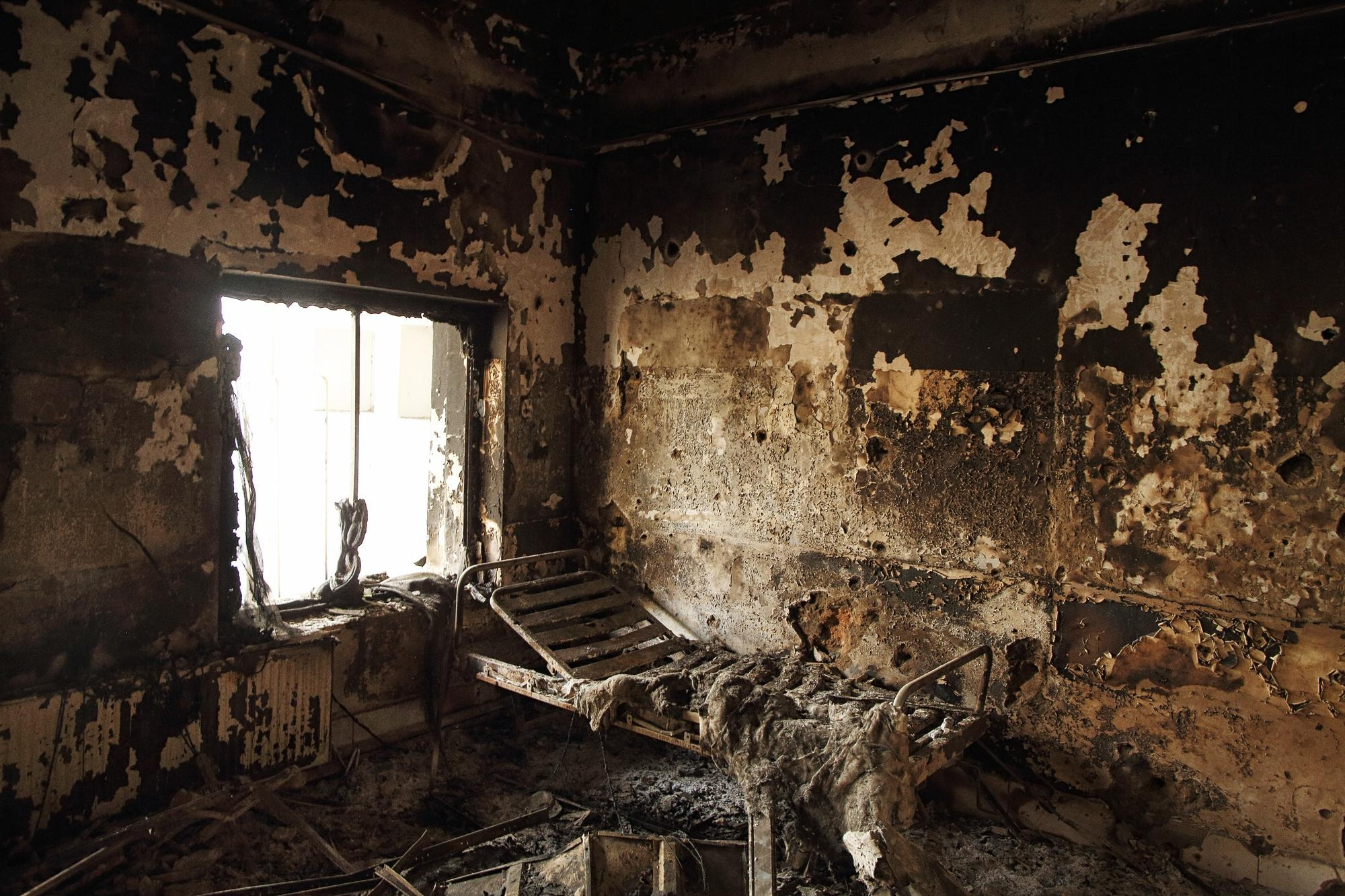 Kunduz Hospital after the U.S. bombing attack