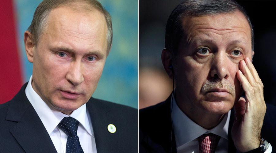 Russian President Vladimir Putin and Turkish President Tayyip Erdogan. © Sputnik / Reuters