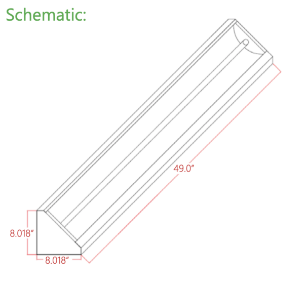 SPH Medical UVC Ceiling Mount Schematic