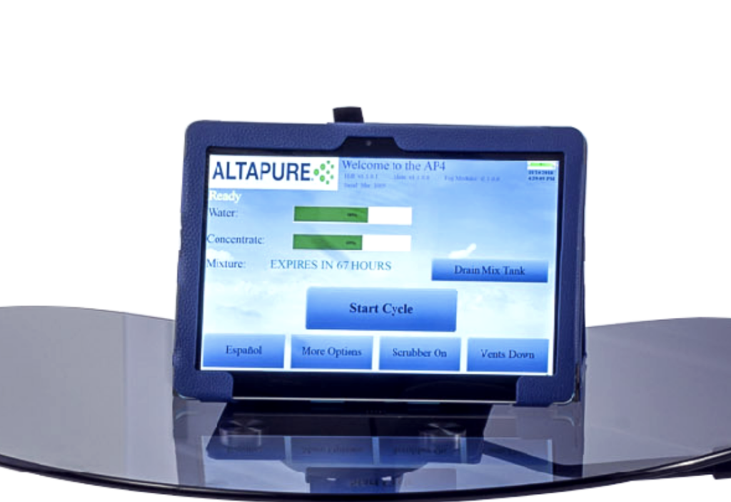 Touch Screen Tablet Controls the AP4 remotely