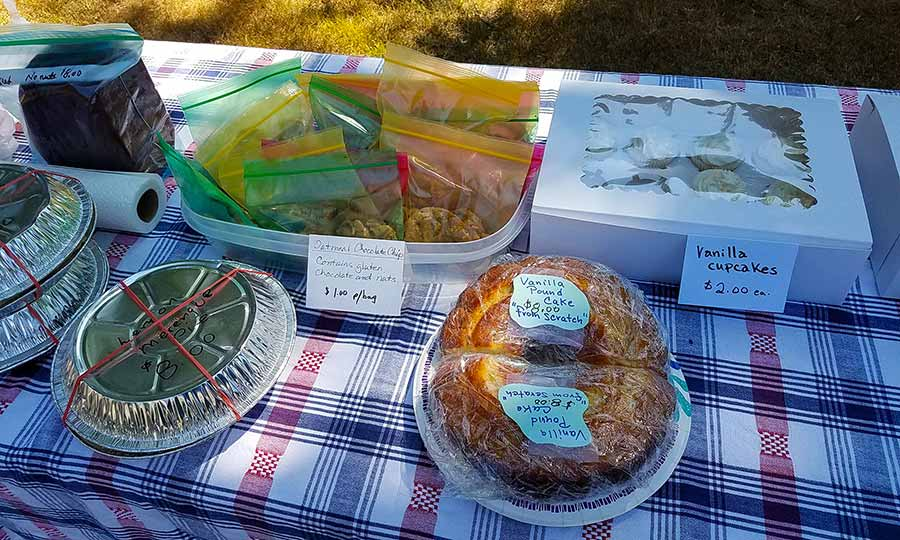 The Windham Free Library bake sale