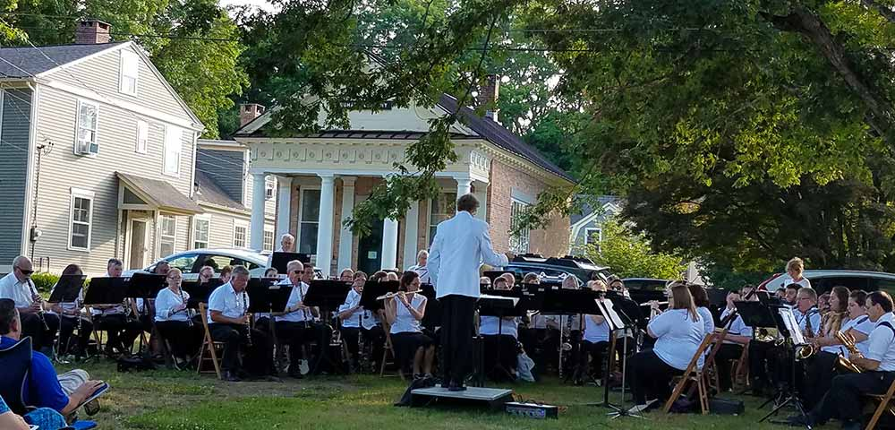 The Windham Free Library concert on the lawn