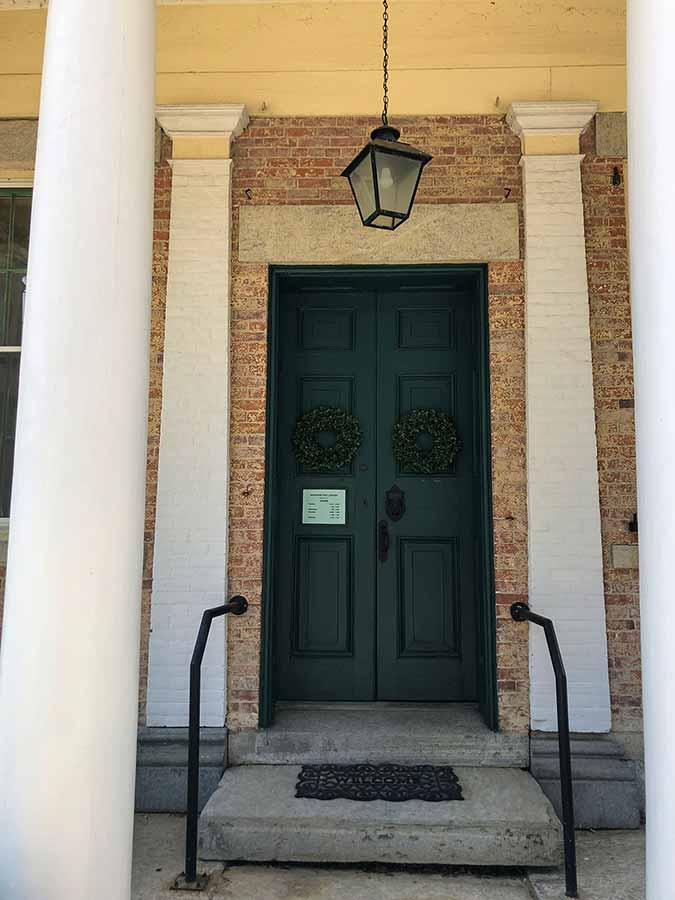 The Windham Free Library front doors