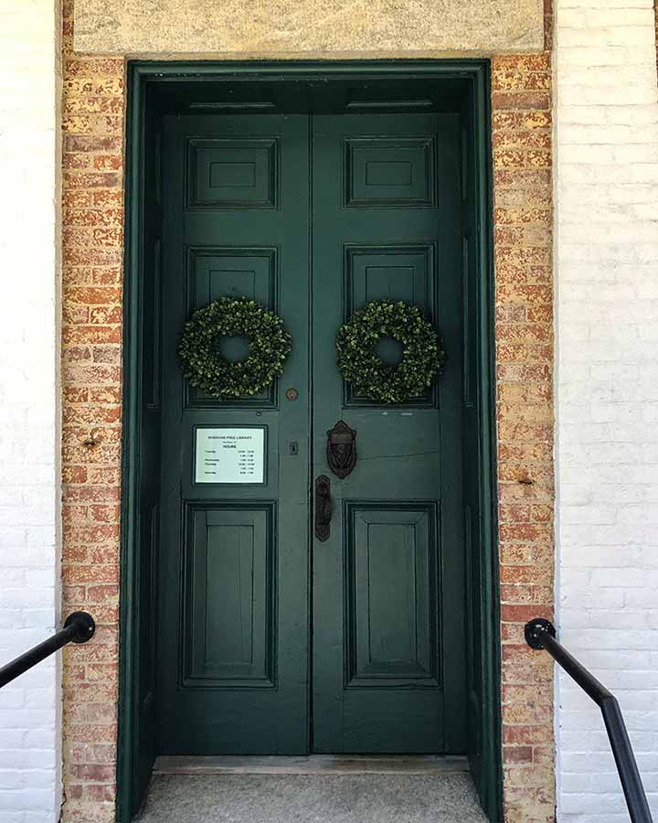 The Windham Free Library front door