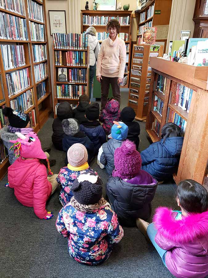 Story time at the library