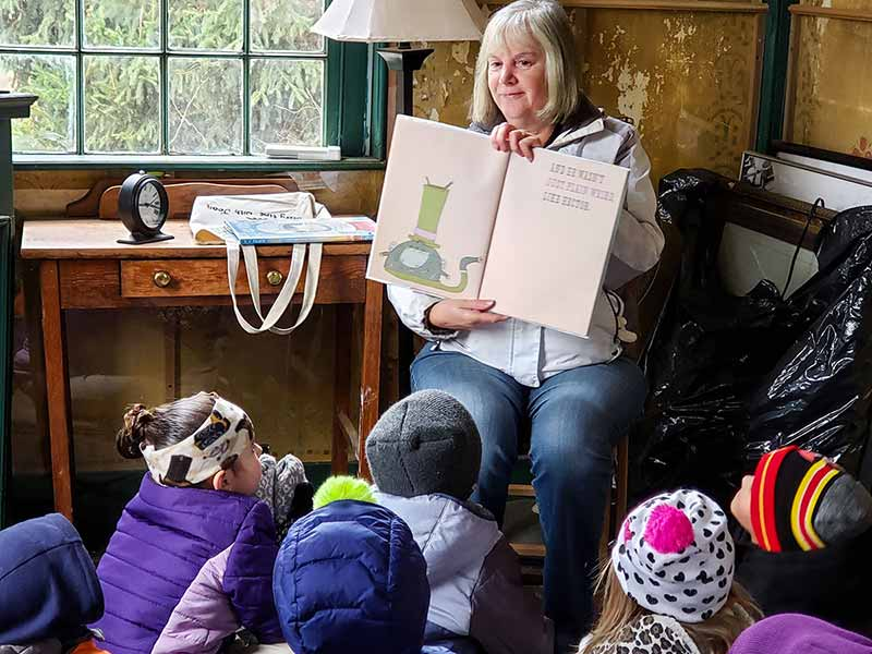 Story hour at The Windham Free Library