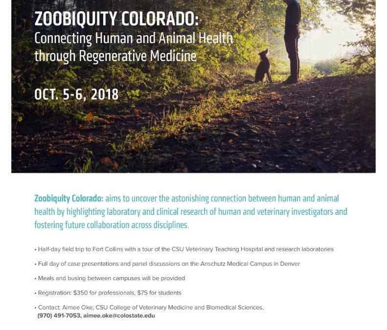 Zoobiquity Colorado Oct 4-5