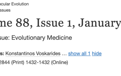 Special Issue on Evolutionary Medicine