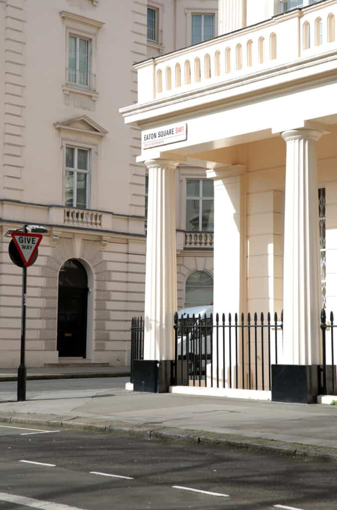 Residential property on Eaton Square, London