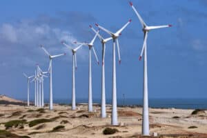 Image of onshore wind turbines in Brazil