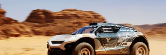 ABT CUPRA XE during the Desert X-Prix in Alula, Saudi Arabia. (Photo Credit: Sam Bloxham / LAT Images)