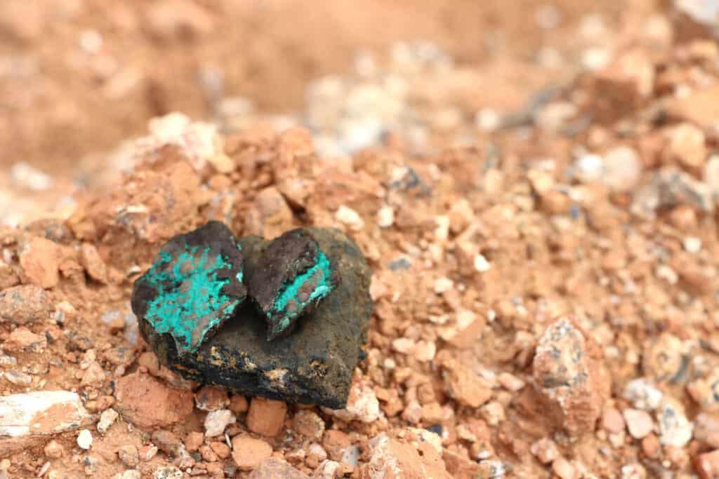 Malachite copper and cobalt