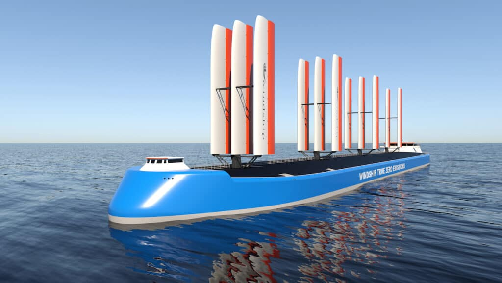 True Zero Emission ship design from Windship Technology, dubbed 'Tesla of the Seas'
