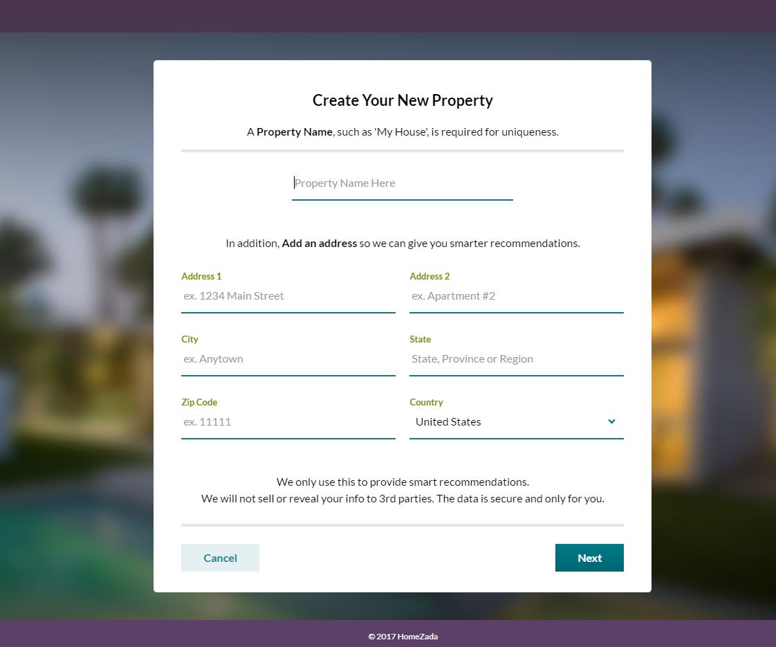HomeZada Tip Sharing Properties