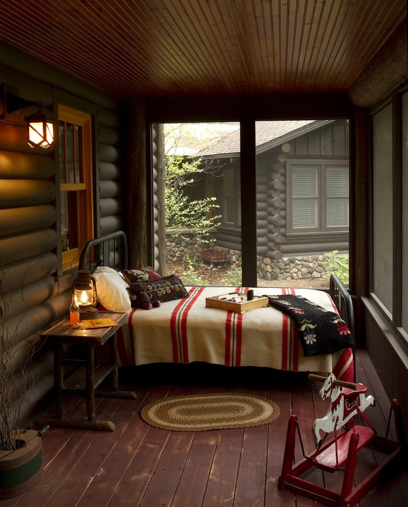 Good-Looking-little-tikes-rocking-horse-in-Porch-Rustic-with-Ceiling-Types-next-to-Log-Cabin-Decorating-alongside-Log-Cabin-andIron-Bed-