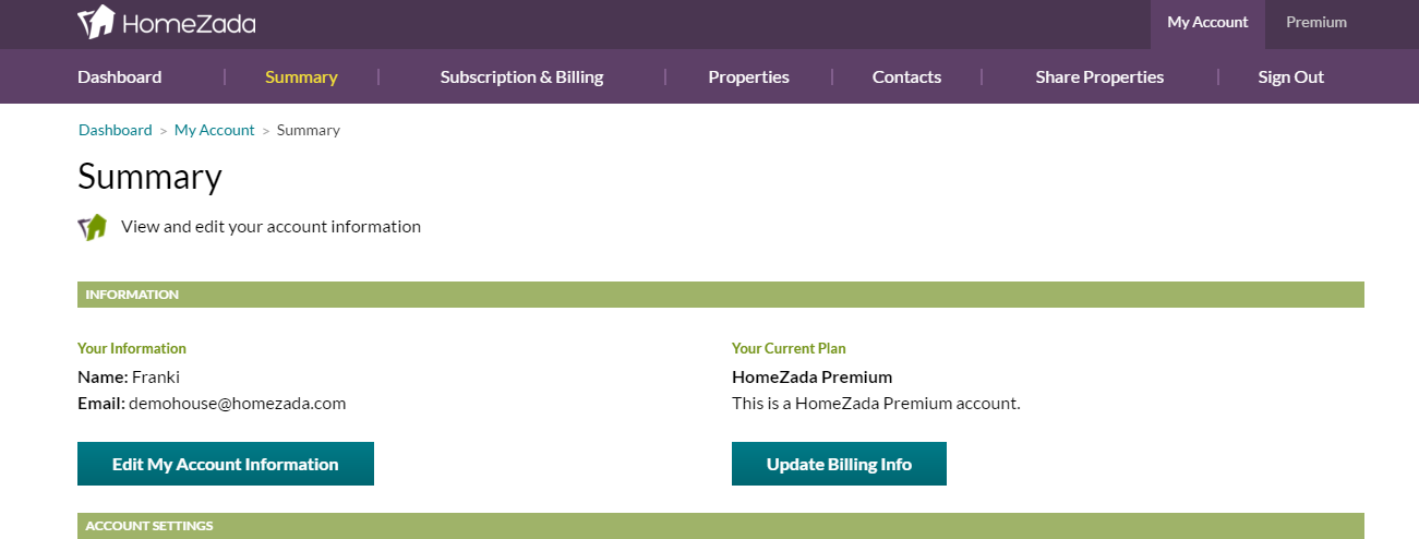 Sharing Your HomeZada Account with Family