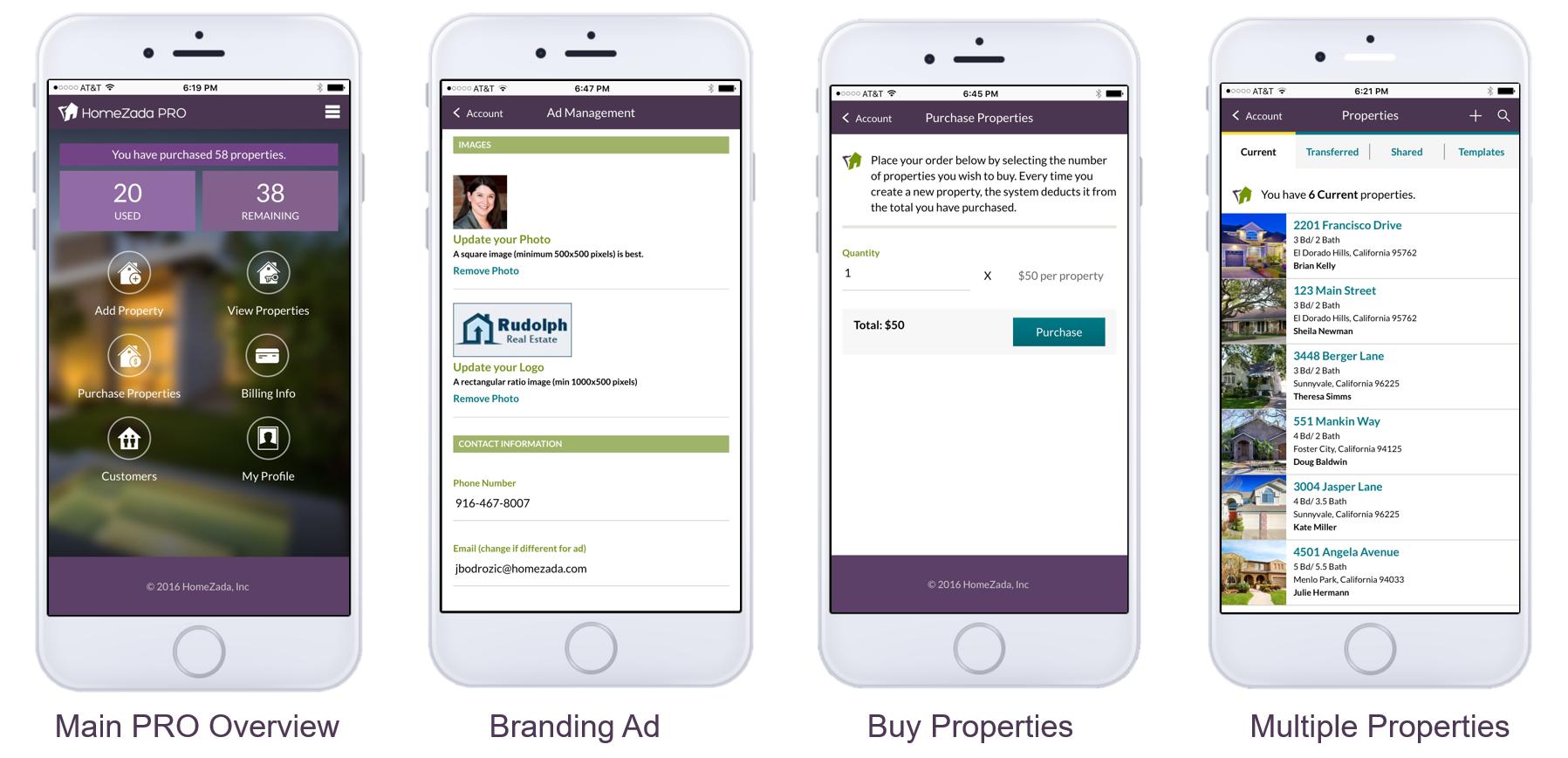 HomeZada Professional Mobile Screenshots