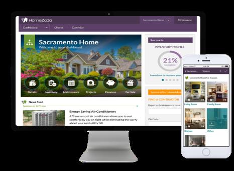 HomeZada New Interface Screenshot