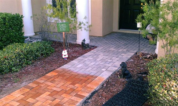 How To Make Stained Pavers for Your Backyard Walkway