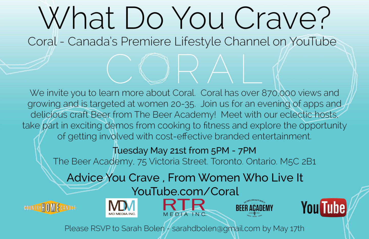 What Do You Crave? @CoralTV Event at Beer Academy