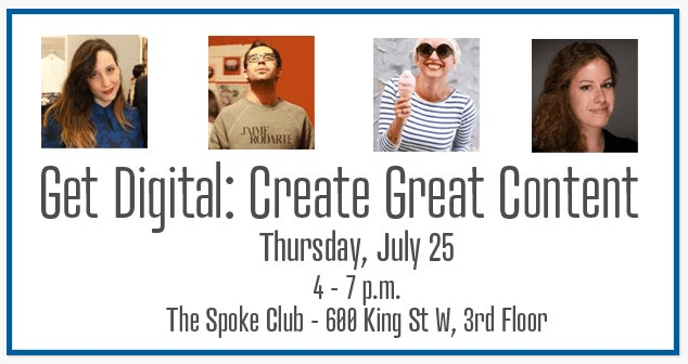 Agility presents 'Get Digital: Create Great Content' at The Spoke Club