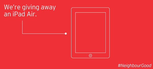 Win an iPad Air from @155Redpath! #NeighbourGood