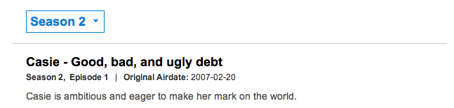 Casie 24, has dreams of being another Paris Hilton, only with a $24,000 income, she has amassed a $31,000 debt.